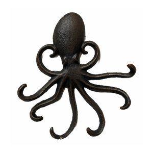 Rustic Brown Octopus 6 Hook